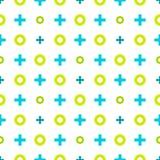 Buntes geometrisches Muster von wertlosen und von Kreuzen Nahtlose Rückseite Stockfotografie