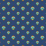 Buntes geometrisches nahtloses Muster in der flachen minimalen Art für Hintergründe und Beschaffenheiten Stockfotografie