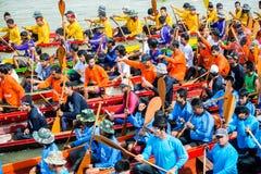 Buntes Gesamt-Longtailboat Lizenzfreie Stockbilder