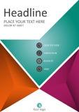 Buntes Geschäfts-Abdeckungsdesign A4 Jahresbericht mit geometrischem Stockfotos