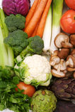 Buntes gesundes Gemüse Stockfoto