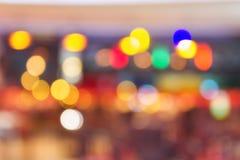 Buntes Glänzen und Glühen helles fantastisches bokeh Stockfoto