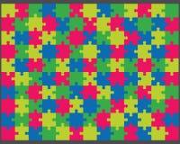 Buntes glänzendes Puzzlespiel Lizenzfreie Stockfotografie