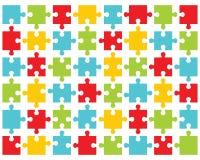 Buntes glänzendes Puzzlespiel Stockfoto