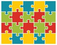 Buntes glänzendes Puzzlespiel Lizenzfreie Stockbilder