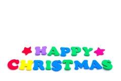 Buntes glückliches Weihnachten Stockfotos