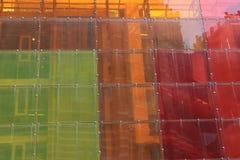 Buntes Glas, Plastik stockfotos