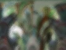 Buntes grünes Glas II stock abbildung