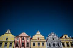 Buntes Häuser inTelc Lizenzfreie Stockfotos