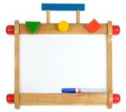 Buntes hölzernes whiteboard Stockfotografie