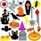 Buntes Halloween-Festival-Thema Stockbilder
