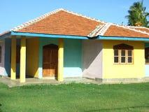 Buntes Haus Stockbild