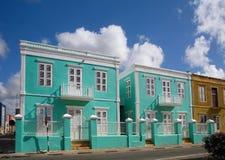 Buntes Haus in den Karibischen Meeren Stockbild