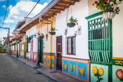 Buntes haus- Guatape, Kolumbien Stockfoto