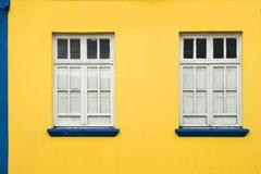 Buntes Haus und Fenster Lizenzfreies Stockbild