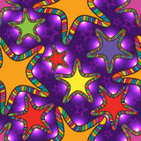 Buntes helles nahtloses Muster des Sternes Stockbild