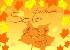 Buntes Herbstverkaufs-Einkaufskonzept, Vektor Lizenzfreies Stockfoto