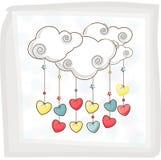Buntes Herz für glückliche Valentinstagfeier Lizenzfreie Stockfotos