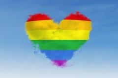 Buntes Herzsymbol von LGBT Stockbilder