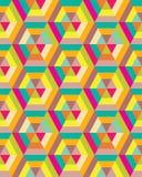 Buntes Hexagon nahtlos Stockfotografie