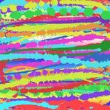 Buntes horizontales Spritzen Beschaffenheit für Design, heller Hintergrund Stockfotos