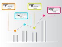 Buntes infographic mit Punkten im Diagramm Stockbild