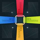Buntes infographic Papierelement für Geschäft Lizenzfreies Stockbild