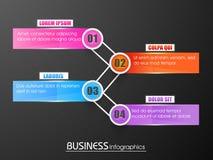 Buntes infographic Papierelement für Geschäft Stockbilder