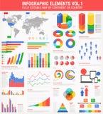 Buntes Infographics stellte 1 ein Lizenzfreies Stockfoto