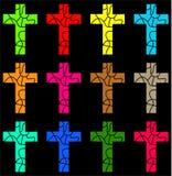 Buntes Kreuz lizenzfreie abbildung