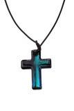 Buntes Kreuz mit schwarzer Abzuglinie Stockfoto