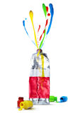 Buntes Kunstkonzept-Farbwasser lizenzfreie stockfotos
