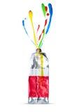Buntes Kunstkonzept-Farbwasser stockbild