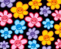 Buntes lächelndes Blumenmuster Lizenzfreie Stockfotografie