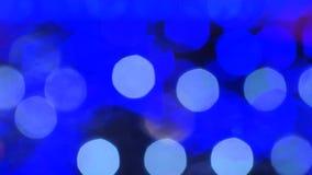 Buntes LED-Licht bokeh stock video