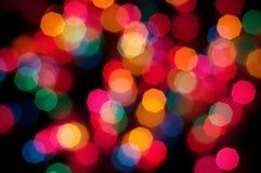 Buntes Leuchten bokeh Stockbilder