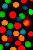 Buntes Lichter backround Bild des Weihnachtsbaums Lizenzfreie Stockfotografie