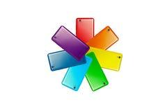 Buntes Logo stock abbildung