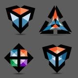 buntes Logo des Vektor-3d Stockfoto