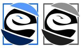 Buntes Logo mit der stilisierten Schlange lokalisiert Stockfoto