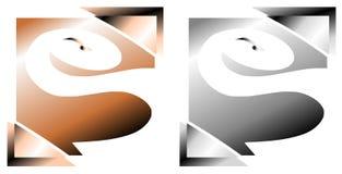 Buntes Logo mit der stilisierten Schlange lokalisiert Stockfotografie