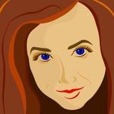 Buntes Mädchenporträt Lizenzfreie Stockfotografie