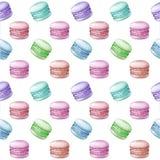 Buntes macarons Muster Lizenzfreie Stockfotografie