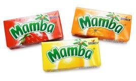 Buntes Mamba-Frucht-Kauen Lizenzfreie Stockfotos