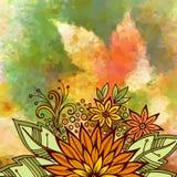 Buntes mit Blumenmuster Stockfotografie
