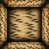Buntes mit Ziegeln gedecktes hölzernes Vollenden lizenzfreie abbildung