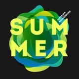 Buntes modernes Sommerplakat Kreative Spritzensteigungsillustration stock abbildung