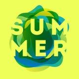 Buntes modernes Sommerplakat Kreative Spritzensteigungsillustration vektor abbildung