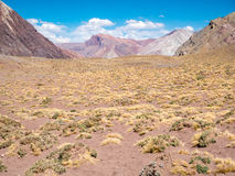 Buntes Montain nahe dem Aconcagua Lizenzfreie Stockfotos