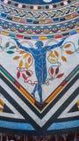 Buntes Mosaik auf dem Boden von Vatikan-Museen lizenzfreie stockfotos